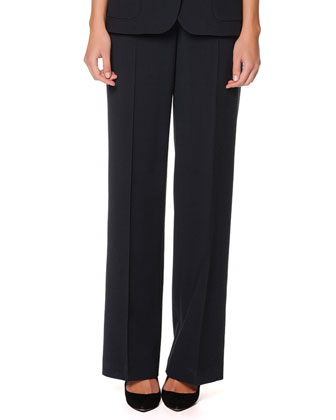 Wide-Leg Satin Pants, Fantasia