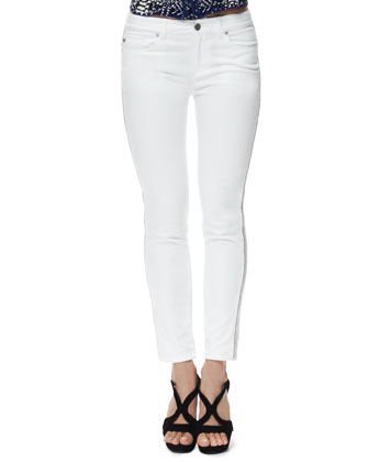 Zipper-Side Cropped Jeans