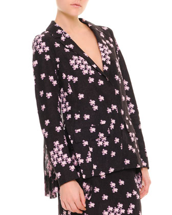 Cherry Blossom Pleat-Back Jacket