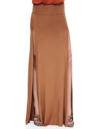 Long Double-Slit Skirt