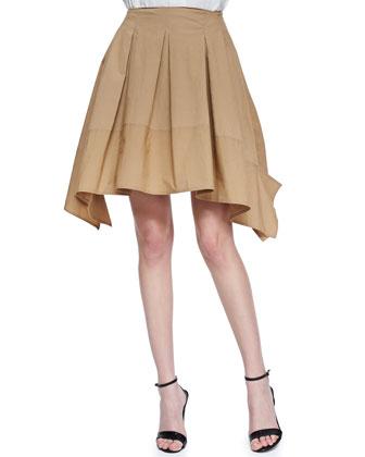 Full Pleated Scarf Skirt