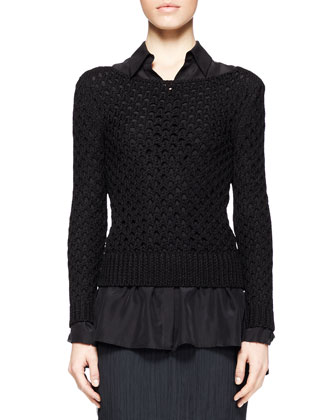 Lauren Open-Knit Sweater