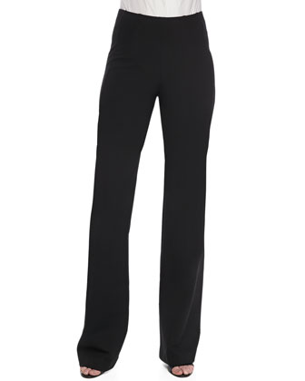 Pull-On Wide-Leg Trousers