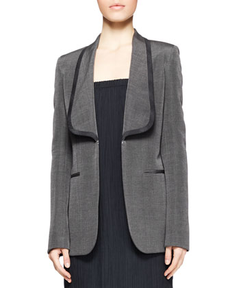 Odex Shawl-Collar Blazer and Dabi Crinkled Strapless Dress