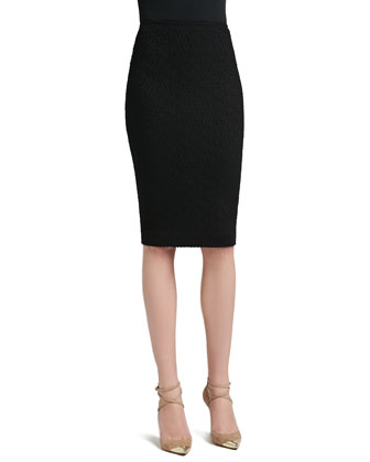 Diamond Dash Knit Skirt with Back Slit