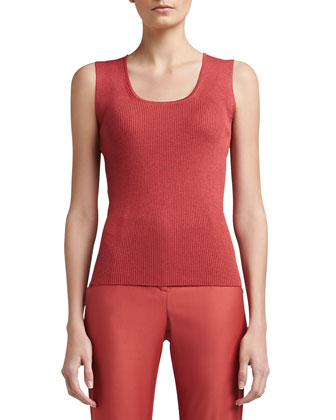Sleeveless Ribbed Tank