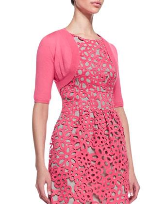 Half-Sleeve Shrug, Peony Pink