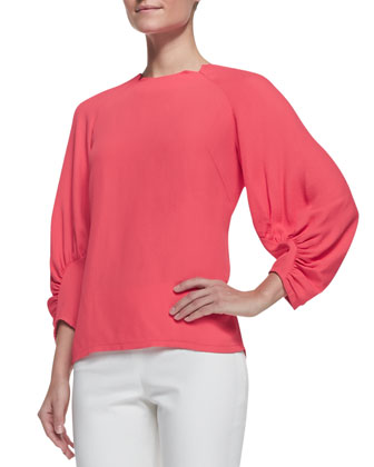 Full-Sleeve Blouse, Watermelon