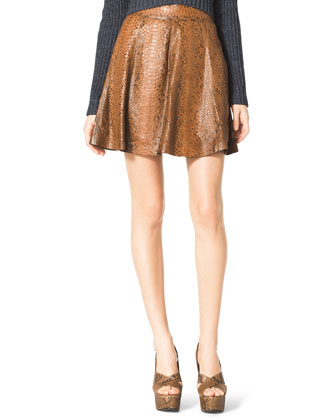 Flared Python Skirt