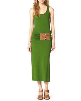 Belted Jersey Tank Dress
