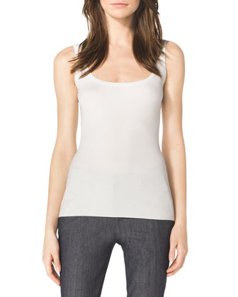 Twill Peplum Jacket, Ribbed Stretch Tank & Samantha Skinny Denim Pants