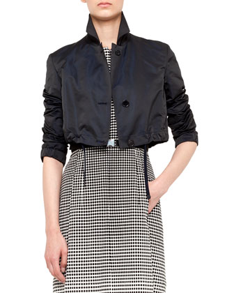 Tech Taffeta Bolero Jacket & Degrade Dot-Print Dress