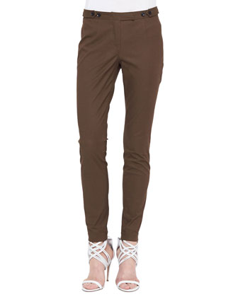 Skinny Tailored Ankle Pants, Oregano