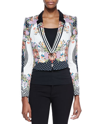 Romantic Nature Print Jacket