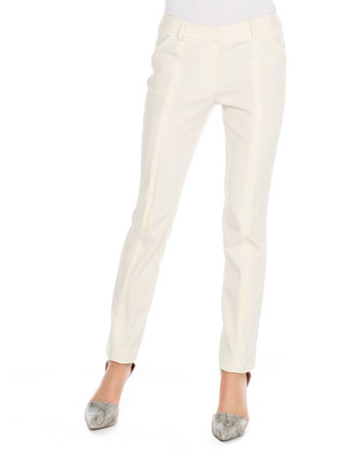 Slim Seam-Detail Pants