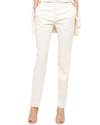 Melvin Slim-Leg Pants, Calla White