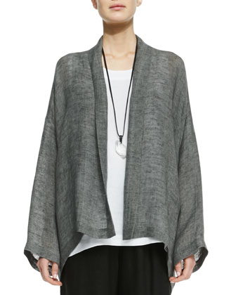 Wide A-Line Shawl Jacket, Cement