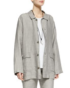 Linen Poacher's Jacket, Gravel