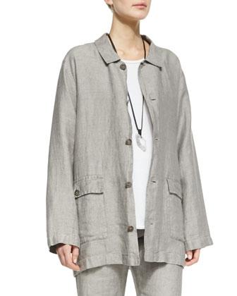 Linen Poacher's Jacket, Gravel