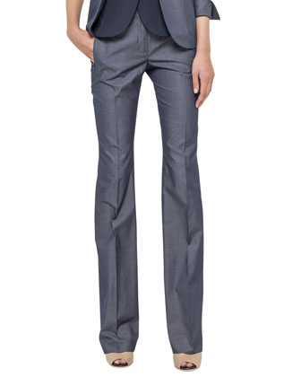 Sea Island Cotton Pants, Denim Blue