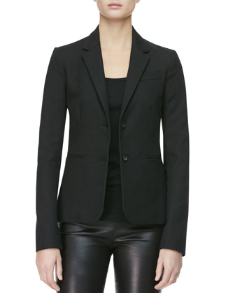 Two-Button Textured Jacket