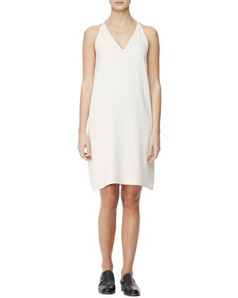 V-Neck Racerback Chemise Dress, Cord