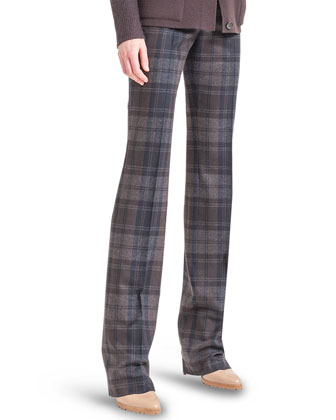 Marilyn Plaid Flannel Pants