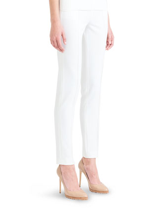 Melissa Techno Stretch Slim Pants, Shore Ivory