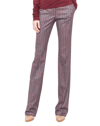 Wool Flannel Pinstripe Pants