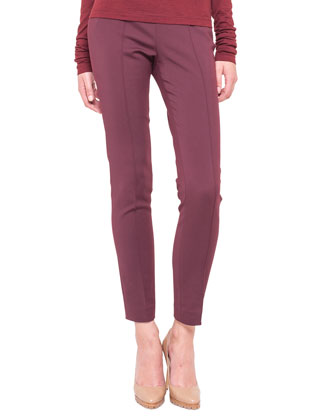 Melissa Techno Stretch Slim Pants, Cinnabar Red