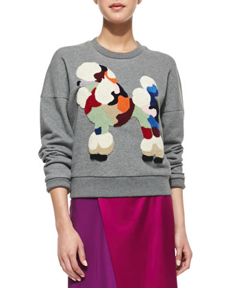 Dropped-Shoulder Poodle Sweatshirt