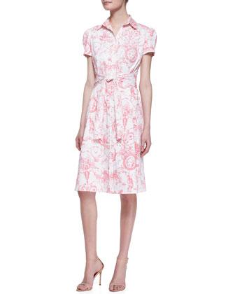 Marilyn Toile Belted Shirtdress