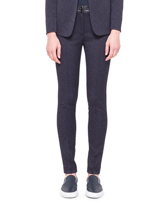 Tech Jacquard Flat-Front Trousers