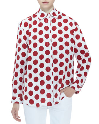 Polka-Dot Blouse, Windsor Red