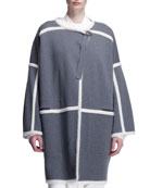 Milano Paneled Long Jacket