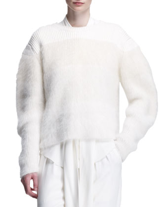 Brushed Fuzzy Knit Sweater