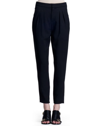 Stretch Wool Canvas Pants, Black