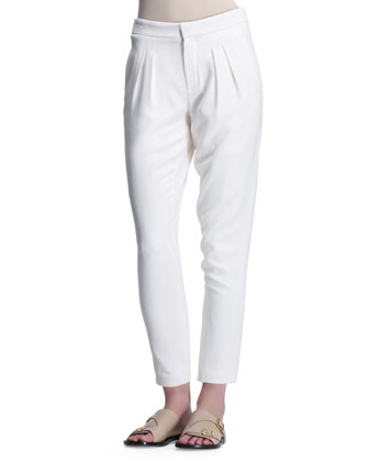 Light Cady Pants, Eggshell White