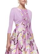 Cashmere-Silk Shrug, Lilac