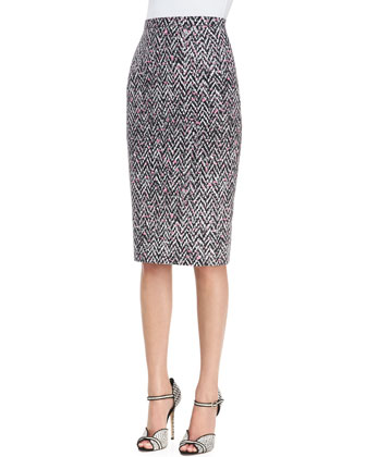 Midi Tweed Pencil Skirt