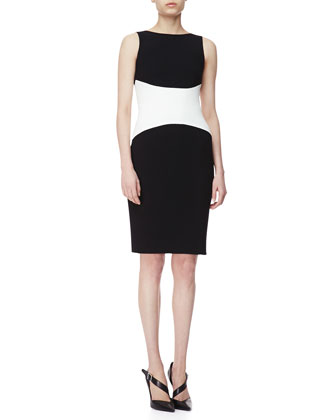 Sleeveless Colorblock Jersey Dress