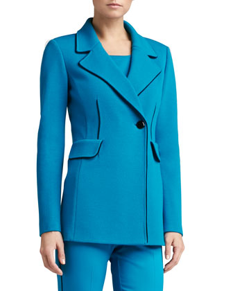 Double Milano Knit Blazer, Milano Knit Contour Tank & Stretch Venetian Wool ...