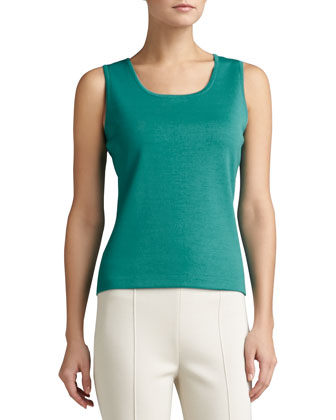 Milano Knit Jacket with Slits, Milano Knit Contour Tank & Stretch Milano ...