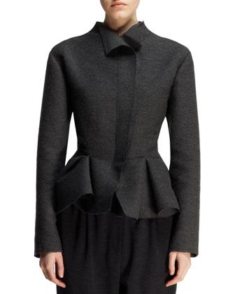 Wool-Blend Peplum Jacket