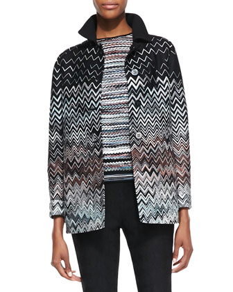 S-Type Jacket with Zigzag Reverse, Black