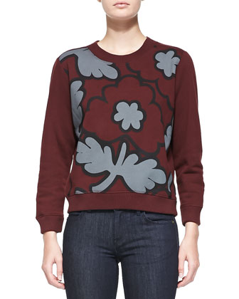 Knit Crewneck Sweatshirt & Denim Skinny Jeans