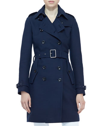 Double-Breasted Trench Coat, Navy
