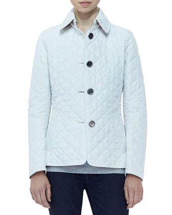 Long-Sleeve Quilted Jacket, Chalk