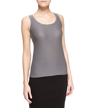 Bi-Color Stripe Jersey Tank Top