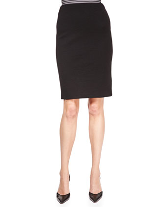 Crepe-Jersey Pencil Skirt